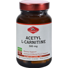HGR0381418 - Olympian LabsAcetyl L-Carnitine - 500 mg - 60 Vegetarian Capsules
