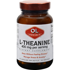 HGR0381426 - Olympian Labs - L-Theanine - 400 mg - 60 Vegetarian Capsules