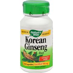 HGR0382002 - Nature's WayKorean Ginseng Root - 50 Capsules