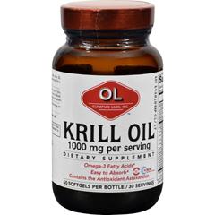 HGR0382713 - Olympian LabsKrill Oil - 1000 mg - 60 Softgels