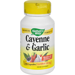 HGR0385500 - Nature's WayCayenne and Garlic - 100 Capsules