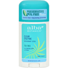 HGR0389692 - Alba BotanicaDeodorant Stick Clear Enzyme Tea Tree - 2 oz