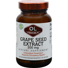 HGR0390187 - Olympian LabsGrape Seed Extra Strength - 200 mg - 100 Capsules