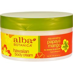HGR0390310 - Alba BotanicaHawaiian Spa Body Cream Papaya Mango - 6.5 oz