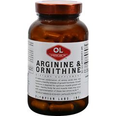 HGR0392548 - Olympian LabsArginine and Ornithine - 100 Vegetarian Capsules