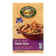 HGR0393975 - Nature's Path - Organic Flax Plus Raisin Bran Cereal - Case of 12 - 14 oz..