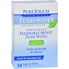HGR0394429 - Puretouch Skin CarePuretouch Tush Wipes Flushable - 24 Wipes