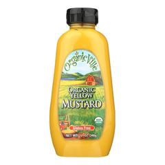 HGR0397810 - Organicville - Organic Yellow - Mustard - Case of 12 - 12 oz..