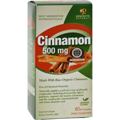 HGR0401042 - Genceutic NaturalsOrganic Cinnamon - 500 mg - 60 Capsules