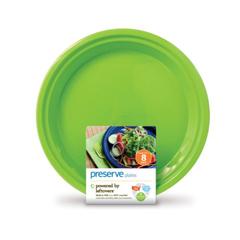 HGR0401802 - PreserveLarge Reusable Plates - Apple Green - Case of 12 - 8 Pack - 10.5 in