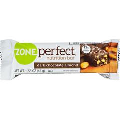 HGR0402560 - Zone PerfectNutrition Bar - Dark Chocolate Almond - Case of 12 - 1.58 oz