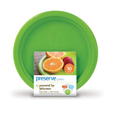 HGR0402800 - PreserveOn the Go Small Reusable Plates - Apple Green - Case of 12 - 10 Pack - 7 in