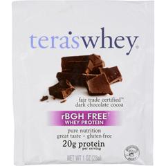 HGR0404434 - Tera's WheyProtein Powder - Whey - Fair Trade Certified Dark Chocolate Cocoa - 1 oz - Case of 12