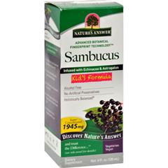 HGR0405506 - Nature's AnswerSambucus nigra Black Elder Berry Extract Kids Formula - 4 fl oz