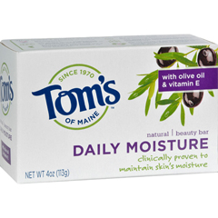 HGR0405860 - Tom's of MaineNatural Beauty Bar Daily Moisture - 4 oz - Case of 6