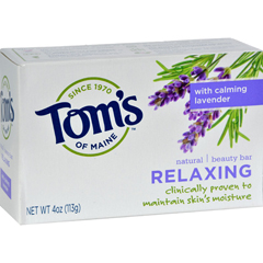 HGR0406009 - Tom's of MaineNatural Beauty Bar Relaxing with Calming Lavender - 4 oz - Case of 6