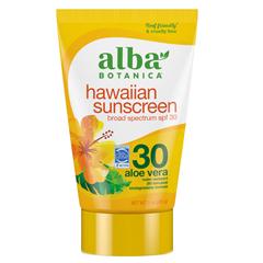 HGR0408609 - Alba BotanicaHawaiian Aloe Vera Natural Sunblock SPF 30 - 4 fl oz