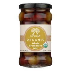 HGR0408625 - Divina - Organic Greek Mixed Olives - Case of 6 - 6.35 oz..