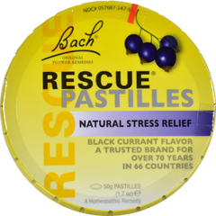HGR0409409 - BachFlower Remedies Rescue Pastilles Black Currant - 1.7 oz - Case of 12