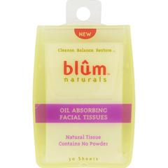 HGR0412031 - Blum NaturalsOil Absorbing Facial Tissues - 50 Sheets - Case of 6