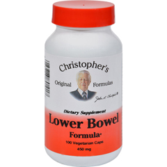 HGR0412510 - Dr. Christopher'sOriginal Formulas Lower Bowel Formula - 450 mg - 100 Vcaps