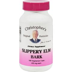 HGR0413799 - Dr. Christopher'sSlippery Elm Bark - 425 mg - 100 Vegetarian Capsules