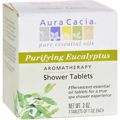 HGR0414367 - Aura Cacia - Purifying Aromatherapy Shower Tablets Eucalyptus - 3 Tablets