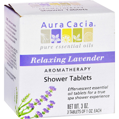 HGR0414383 - Aura CaciaAromatherapy Shower Tablets Relaxing Lavender - 3 Tablets