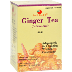 HGR0417352 - Health King Medicinal TeasMedicinal Teas Ginger Herb Tea - Caffeine Free - 20 Tea Bags
