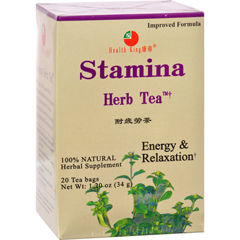 HGR0417519 - Health King Medicinal TeasStamina Herb Tea - 20 Tea Bags