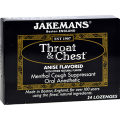 HGR0418533 - JakemansThroat and Chest Lozenges - Anise - Case of 24 - 24 Pack