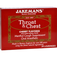 HGR0418558 - JakemansThroat and Chest Lozenges - Cherry - Case of 24 - 24 Pack