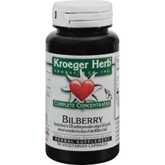 HGR0419838 - Kroeger HerbBilberry - 90 Vegetarian Capsules