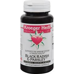 HGR0419853 - Kroeger HerbBlack Radish and Parsley - 100 Capsules