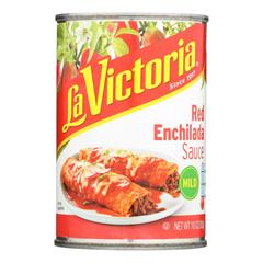 HGR0421370 - La Victoria - Red Enchilada Sauce - Mild - Case of 12 - 10 oz..