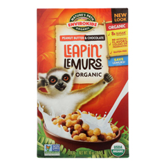 HGR0422568 - Nature's Path - Envirokidz Leapin Lemurs Cereal - Peanut Butter and Chocolate - Case of 12 - 10 oz..