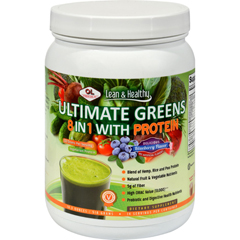 HGR0423160 - Olympian LabsUltimate Greens Protein 8 in 1 with Hemp Protein Vanilla Banana Berry - 1.3 lbs