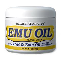 HGR0424838 - Natural TreasuresEmu Oil Topical Cream - 4 oz