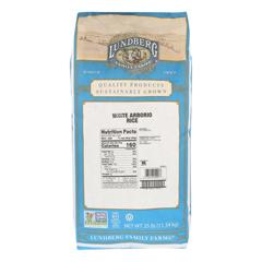 HGR0425561 - Lundberg Family Farms - Rice - White Arborio - Case of 25 - lb.