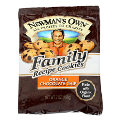 HGR0426742 - Newman's Own Organics - Cookies - Chocolate Chip - Case of 6 - 7 oz..