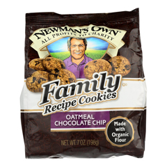 HGR0427864 - Newman's Own Organics - Oatmeal Cookies - Chocolate Chip - Case of 6 - 7 oz..
