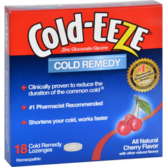 HGR0432773 - Cold-EEZECold Remedy - All Natural Cherry Flavor - 18 Lozenges
