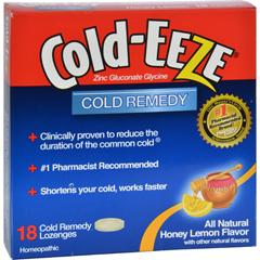HGR0432815 - Cold-EEZECold Remedy Lozenges Honey Lemon - 18 Lozenges