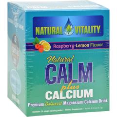 HGR0438622 - Natural VitalityNatural Calm Plus Calcium Raspberry Lemon - 30 Packets