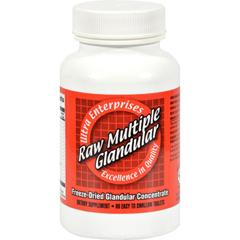 HGR0439190 - Ultra GlandularsUltra Raw Multiple Gland - 60 Tablets