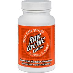 HGR0439216 - Ultra GlandularsRaw Orchic - 1000 mg - 60 Tablets