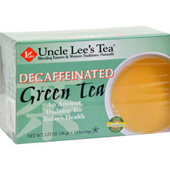 HGR0444356 - Uncle Lee's TeaDecaffeinated Green Tea - Case of 6 - 20 Bags