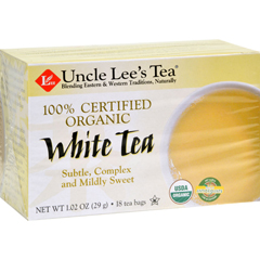 HGR0444398 - Uncle Lee's Tea100% Certified Organic White Tea - Case of 6 - 18 Bag