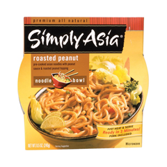HGR0445726 - Simply Asia - Roasted Peanut Noodle Bowl - Case of 6 - 8.5 oz..