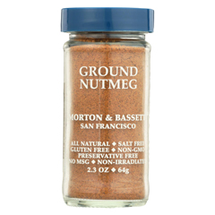 HGR0447938 - Morton and Bassett - Seasoning - Nutmeg - Ground - 2.3 oz.. - Case of 3